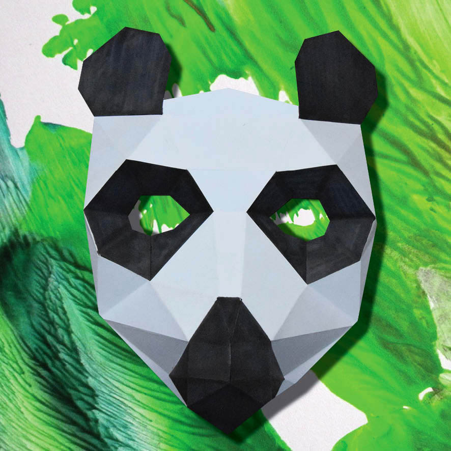 masque de panda 3d imprimer et fabriquer soi m me. Black Bedroom Furniture Sets. Home Design Ideas