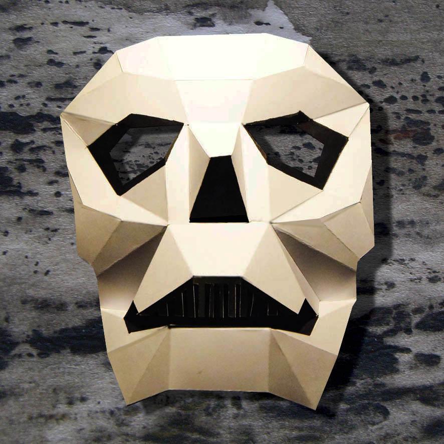 Masque tête de mort 3D