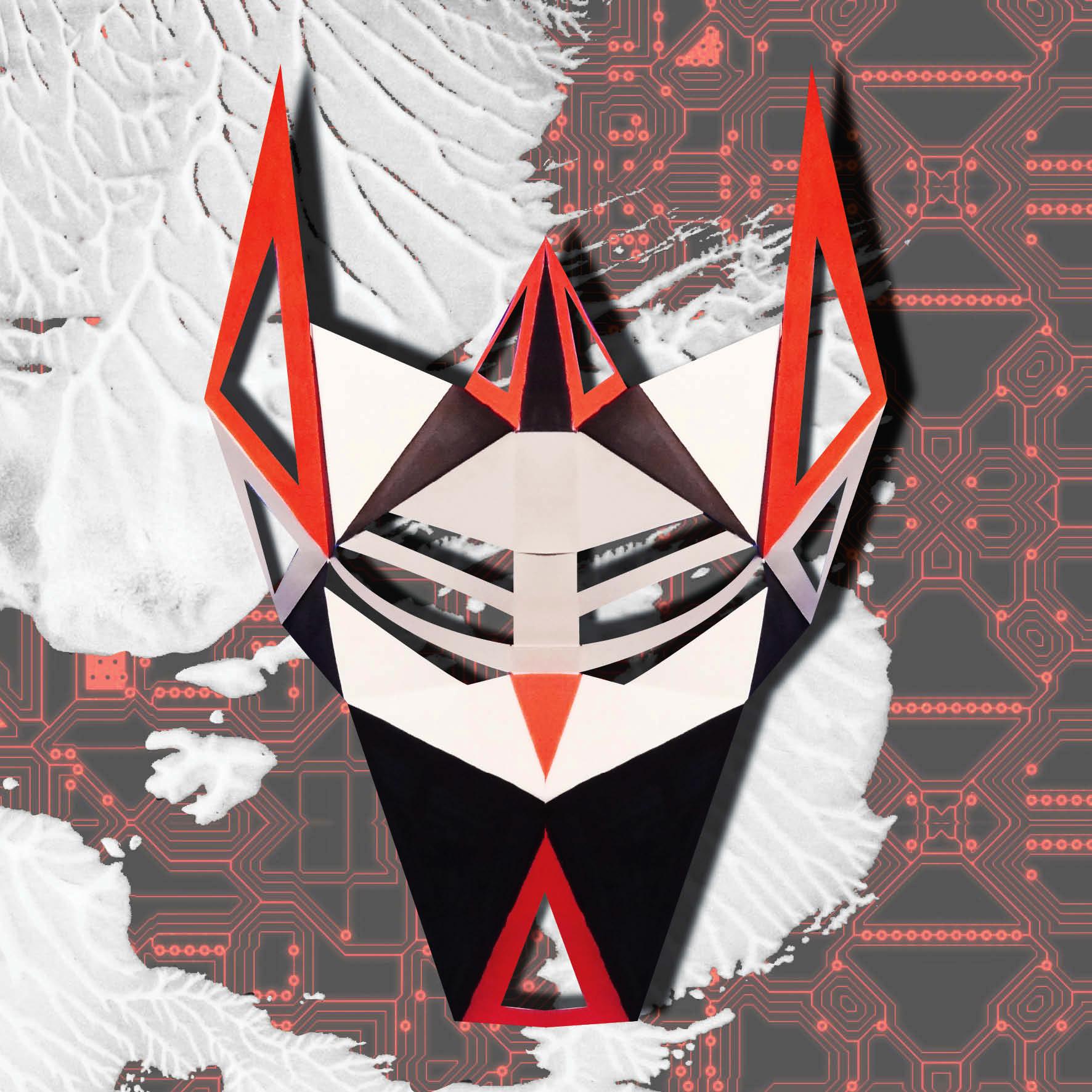 Masque de cyborg 3D