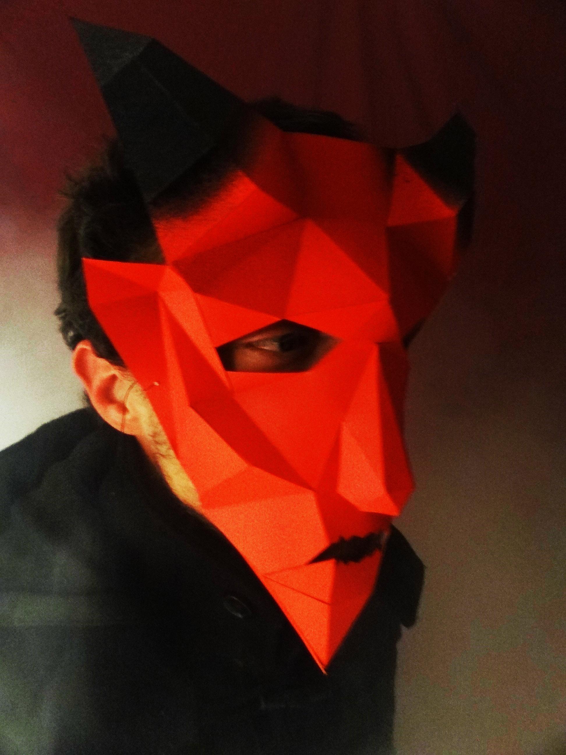 masque de diable 3d imprimer et fabriquer soi m me. Black Bedroom Furniture Sets. Home Design Ideas