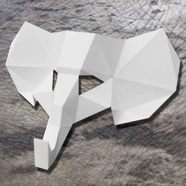 Masque d'éléphant 3D