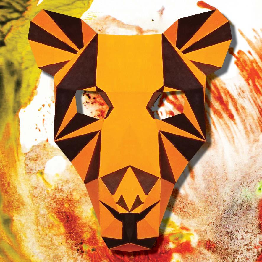 Masque de tigre 3D