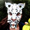 Masque de panthère des neiges 3D