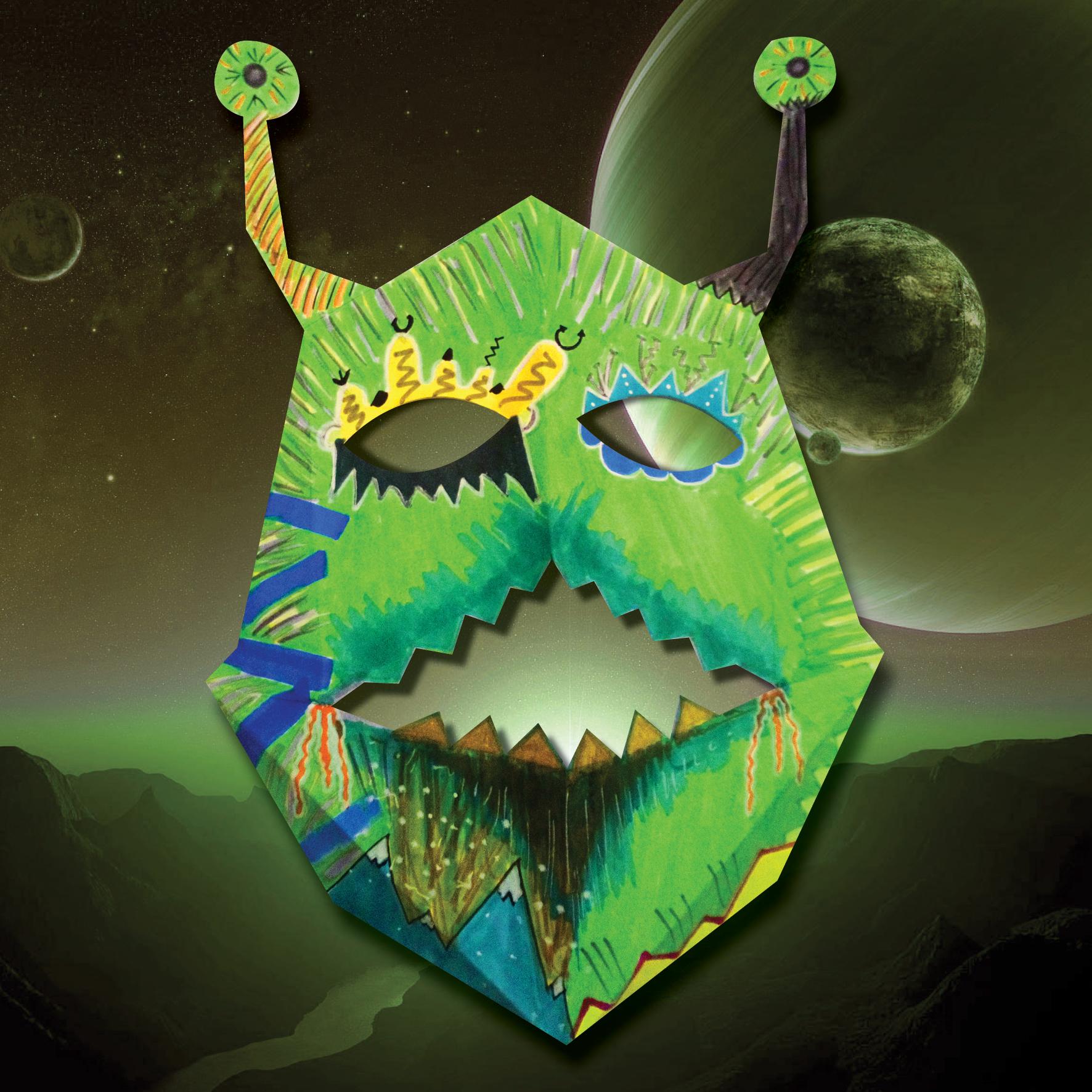 Masque du monstre de Saturne 3D