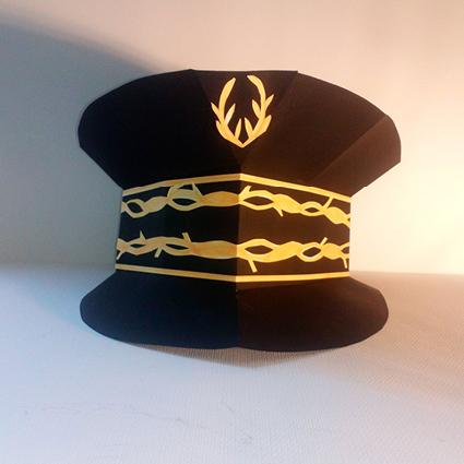 Casquette du préfet de police 3D