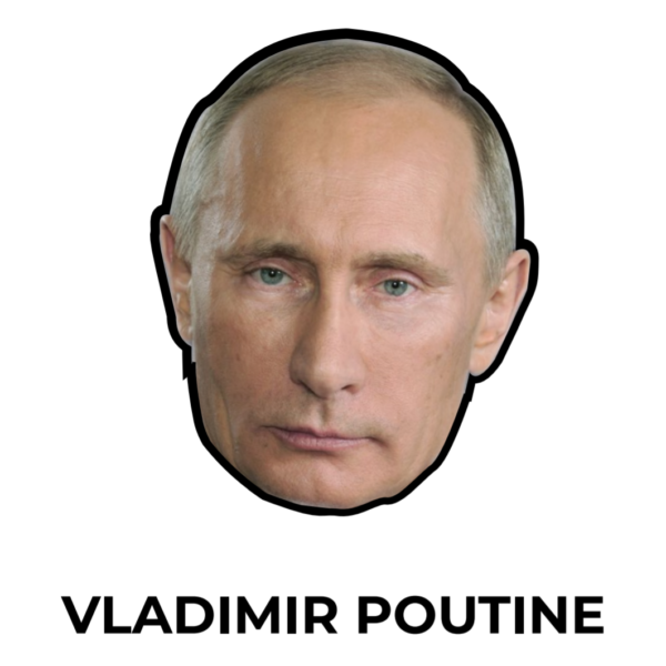 illustration masque Vladimir Poutine