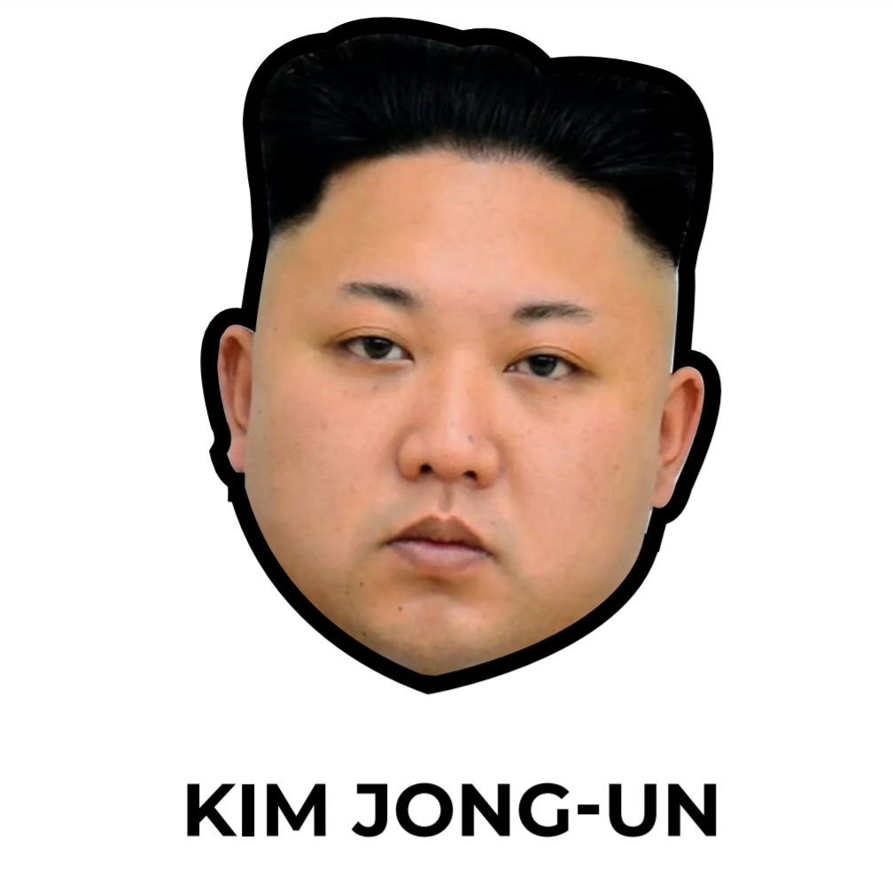 illustration masque kim jong un