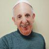 photo masque 3d pape francois porté
